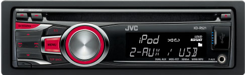 JVC KD-R521 CD/MP3/WMA Receiver With USB & Auxillary Input