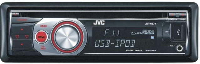 JVC KD-R611 CD/MP3/WMA Receiver with Direct iPod Control & USB