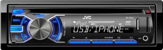 JVC KD-R641 CD/MP3/USB Receiver with iPod Connectivity