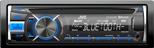 JVC KD-R741BT CD/MP3/USB Receiver with iPod & Bluetooth