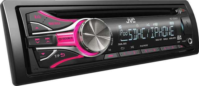JVC KD-SD631 CD/MP3/USB/iPod Receiver With SD Card Input