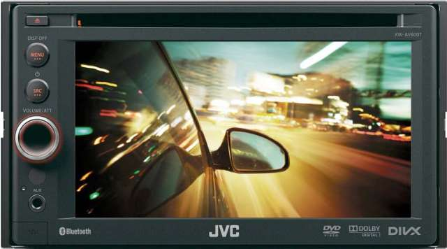 JVC KW-AV60BT Double Din CD/MP3/DVD Receiver with Bluetooth