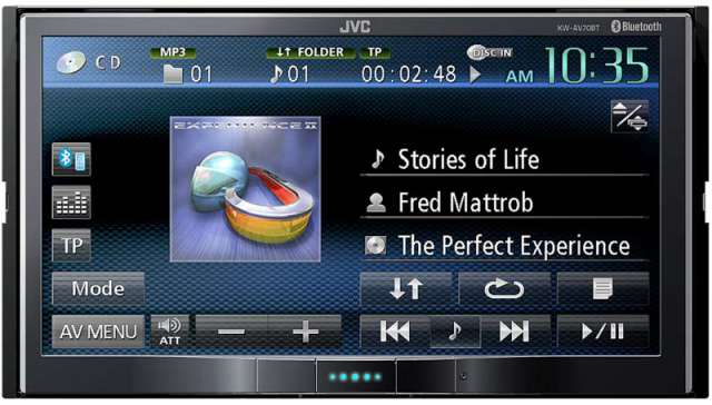 JVC KW-AV70BT Double Din CD/MP3/DVD Receiver with Bluetooth