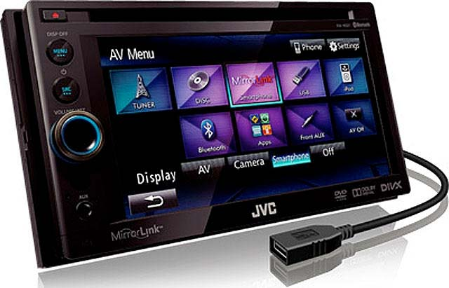 JVC KW-NSX1 Double Din CD/MP3/DVD Receiver With Mirror Link - Click Image to Close