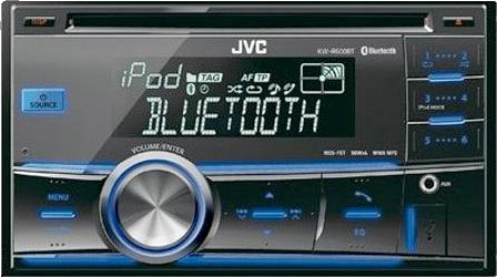 JVC KW-R600BT Double Din CD/MP3/USB/iPod Receiver With Bluetooth
