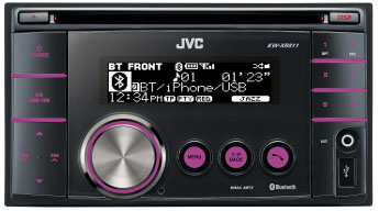 JVC KW-XR811 Double Din CD/MP3/USB Receiver With iPod Connection