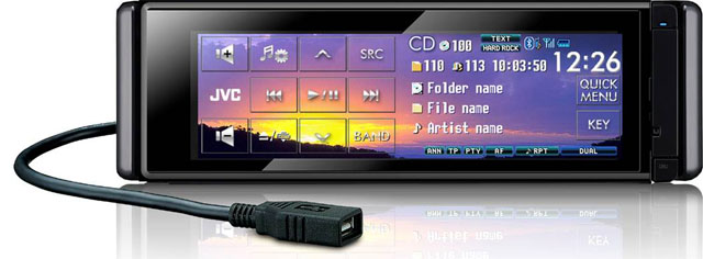 JVC KD-AVX77 CD/MP3/DVD Receiver with USB & Bluetooth