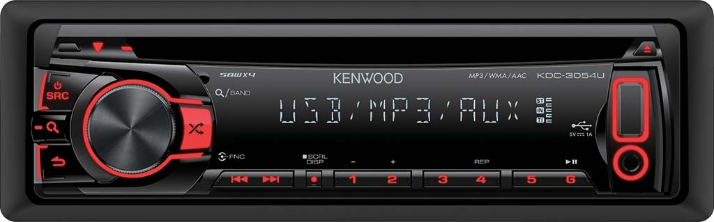 Kenwood KDC-3054UR CD/MP3/AUX Receiver With USB Input
