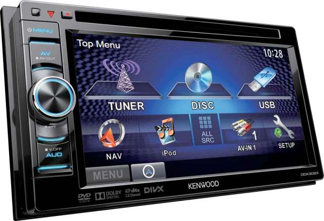 Kenwood DDX-3023 Touch Screen DVD/CD Monitor With iPod Control