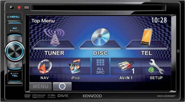 Kenwood DDX-4023BT Motorised Double Din DVD/CD/MP3/Bluetooth