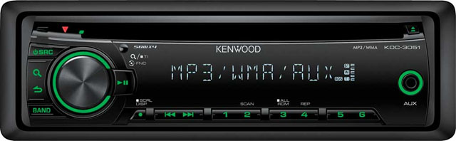 Kenwood KDC-3051G CD/MP3 Receiver with AUX input