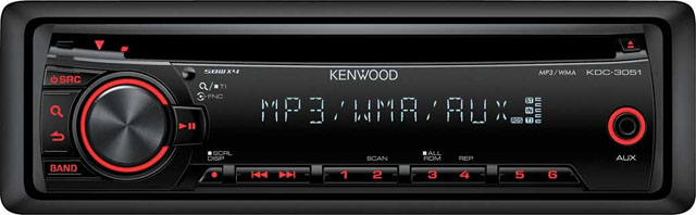 Kenwood KDC-3051R CD/MP3 Receiver with AUX input