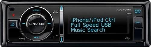 Kenwood KDC-6051U CD/MP3/USB/AUX/SD Tuner With iPod Control