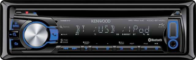 Kenwood KDC-BT42U CD/MP3/USB/iPod Receiver With Bluetooth [Kenwood KDC-BT42U]
