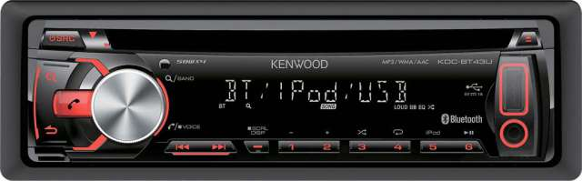 Kenwood KDC-BT43U CD/MP3/USB/iPod Receiver With Bluetooth