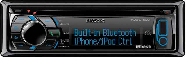 Kenwood KDC-BT52U CD/MP3/USB/iPhone Tuner with USB & Bluetooth