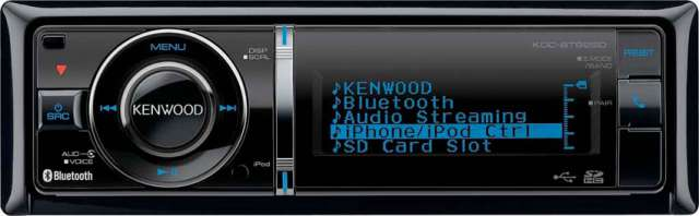 Kenwood KDC-BT92SD CD/MP3/SD/USB/iPhone Receiver With Bluetooth