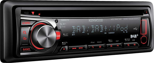 Kenwood KDC-DAB4551U CD/MP3/USB DAB Tuner