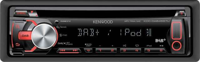 Kenwood KDC-DAB4557U CD/MP3/USB DAB & iPod Connectivity