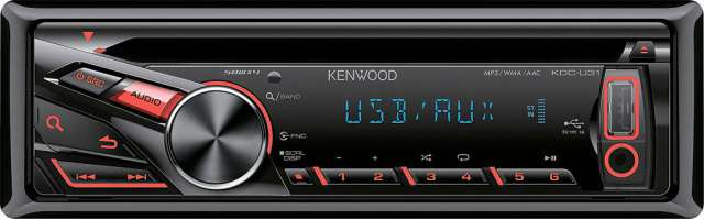 Kenwood KDC-U31R CD/MP3 Receiver with USB/AUX input