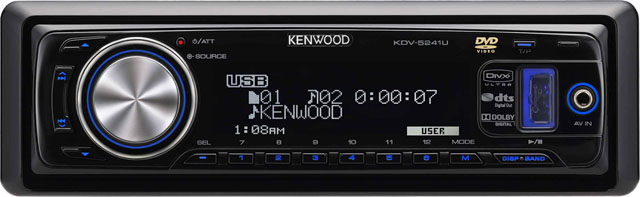 Kenwood KDV-5241UY CD/MP3/DVD Receiver With USB & Aux In