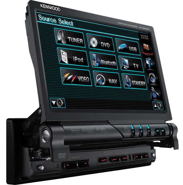 Kenwood KVT-526DVD DVD/CD/MP3 Touch Screen Monitor - Click Image to Close