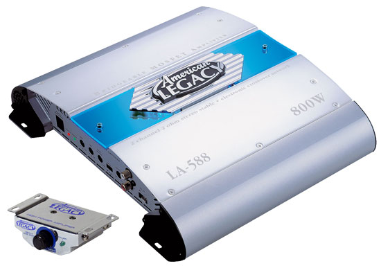 Legacy LA588 2 Channel 800W Bridgeable Amplifier
