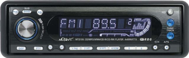 Mutant MT2108 CD/MP3 Receiver With AUX Input