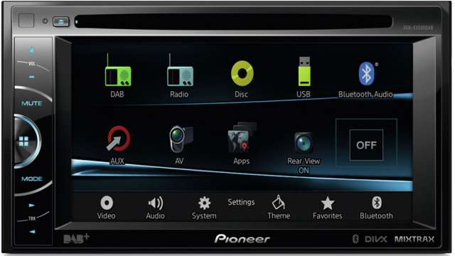 Pioneer AVH-X3500DAB DVD\CD\MP3 Receiver With Bluetooth & DAB