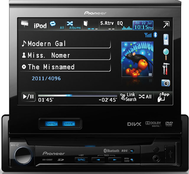 "Pioneer AVH-6300BT 7"" Touch Screen Monitor With Bluetooth"