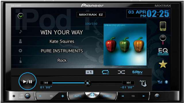 Pioneer AVH-8400BT CD/MP3/iPod/DVD Recevier With Bluetooth
