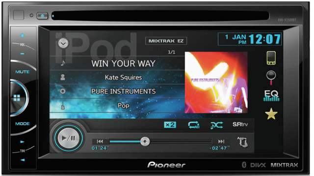 Pioneer AVH-X2500BT DVD\CD\MP3\WMA Receiver With Bluetooth