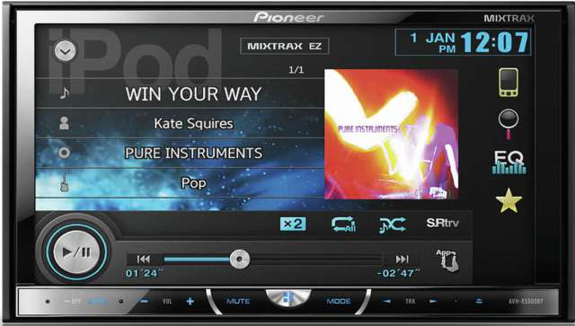 Pioneer AVH-X5500BT DVD\CD\MP3\WMA Receiver With Bluetooth