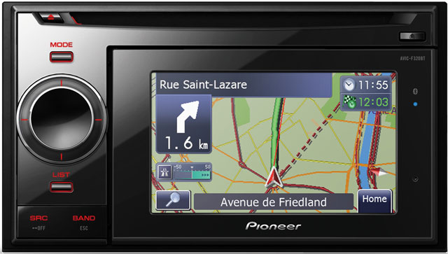 Pioneer AVIC-F320BT CD/MP3 Double Din Navigation Unit