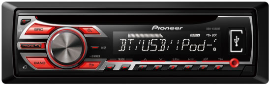 Pioneer DEH-4500BT CD/MP3/USB/SD With Bluetooth Connectivity