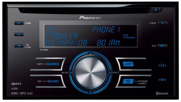 Pioneer FH-P80BT Double Din CD/MP3/USB/Bluetooth Receiver