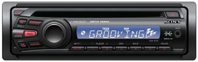 Sony CDX-GT25 CD/MP3 Receiver with Auxillary Input