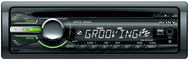 Sony CDX-GT252MP CD/MP3 Tuner with Aux Input