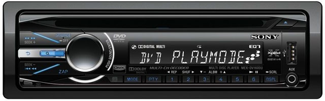 Sony MEX-DV1600U CD/MP3/USB Receiver With DVD Playback