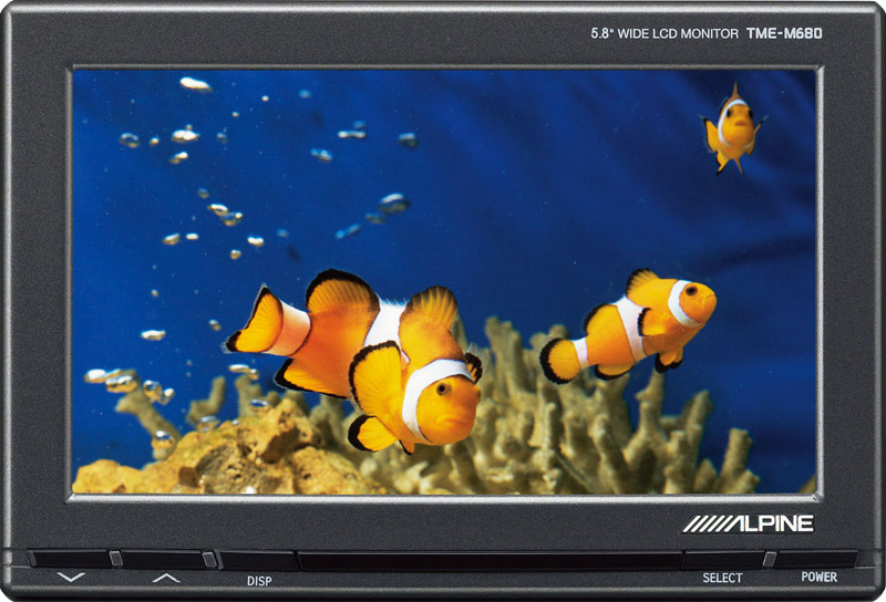 "Alpine TME-M680 5.8"" Wide Screen Monitor"