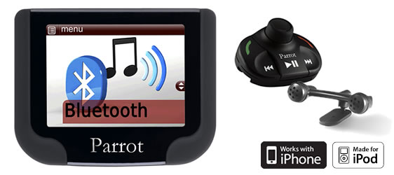 Parrot MKi-9200 Bluetooth carkit with USB/AUX input