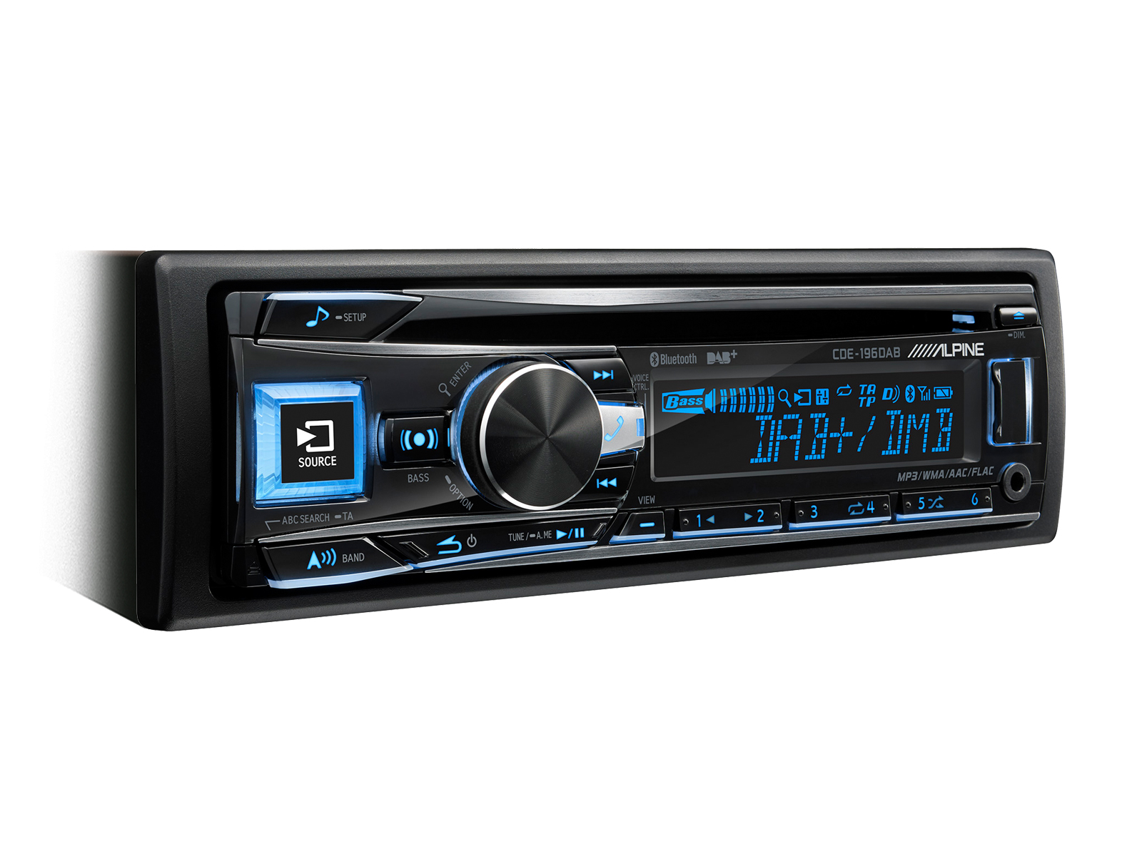 Alpine CDE-196DAB CD/DAB tuner+USB+Bluetooth