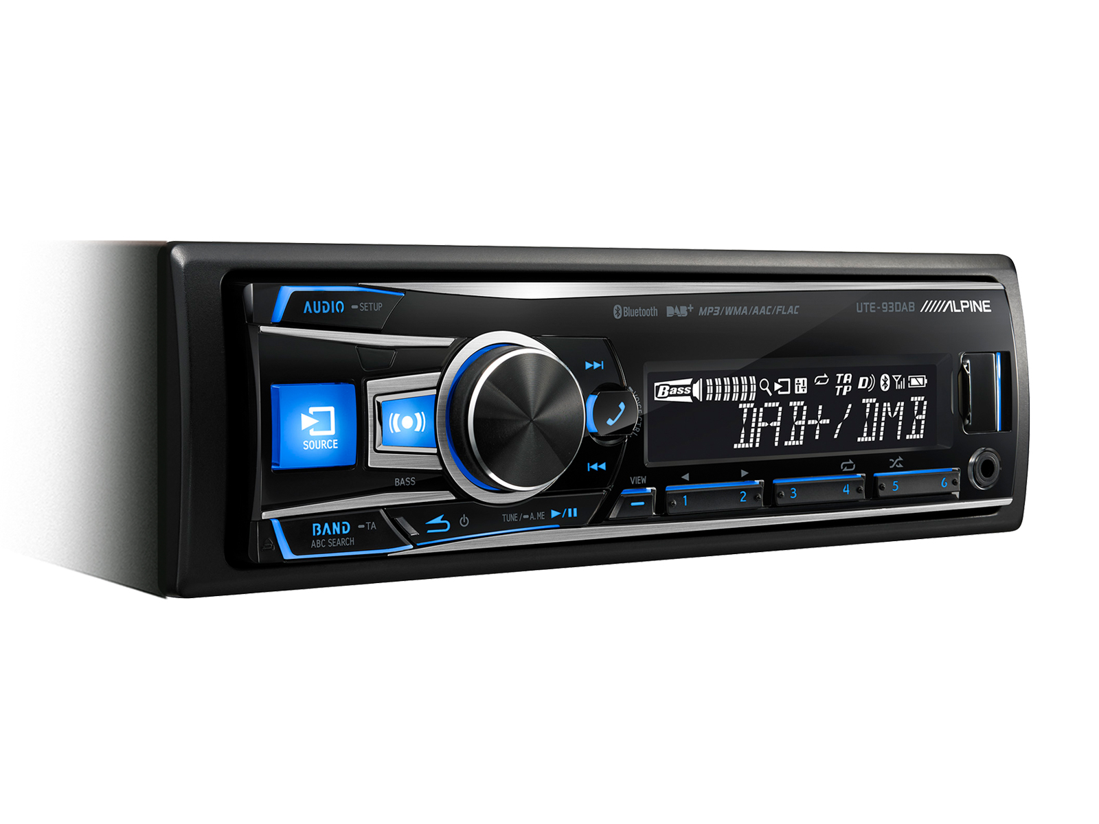 Alpine UTE-93DAB Stereo with DAB+USB+Bluetooth