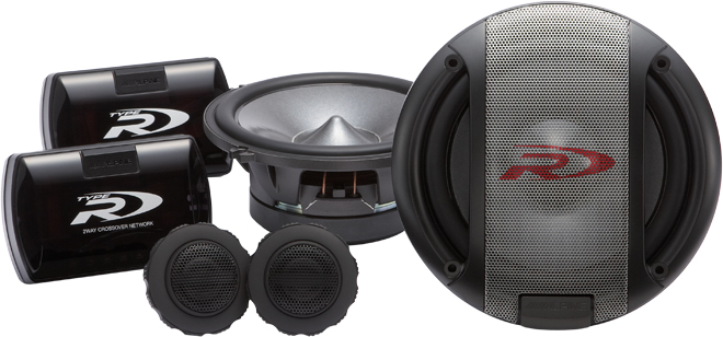 Alpine SPR-17S 2 Way Component Speaker System