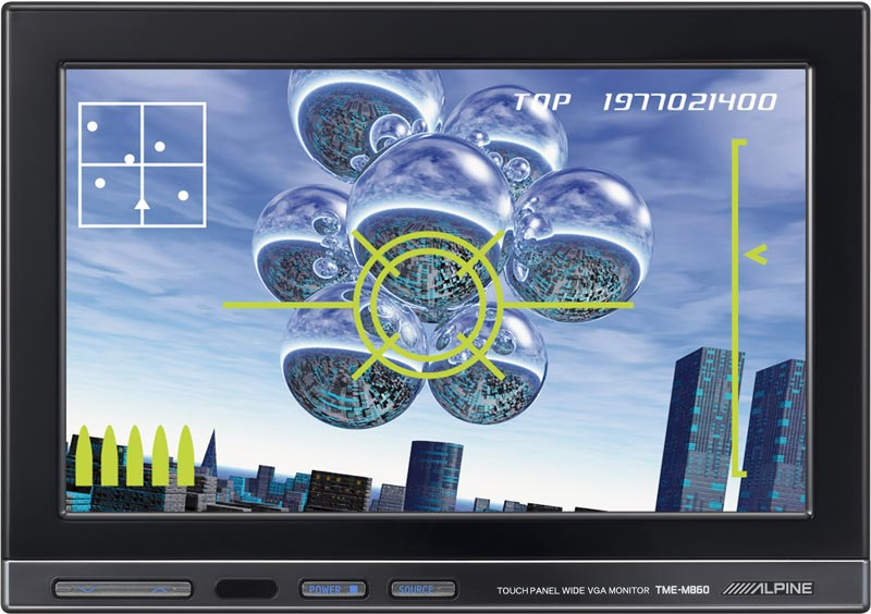 "Alpine TME-M860 8"" WVGA Pulse Touch Display"